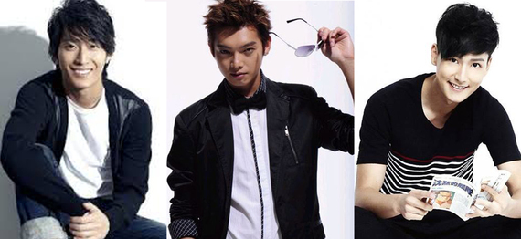 藝人謀男郎 Shawn 竇驍(左)、飛輪海的 Calvin 辰亦儒(中)、SpeXial 的 Evan 馬振桓都是因當年參加 Sunshine 選秀而被發掘。