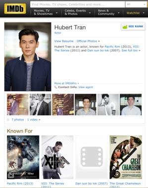 Hubert Tran-曾經Sunshine冠軍, 如今Hollywood冉冉新星